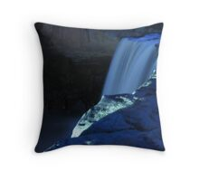 """Waterfall in Shades of Blue"" Throw Pillow"