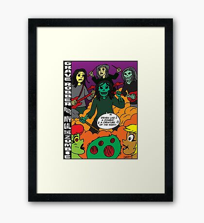 Grave Robber meets My Gal, the Zombie Framed Print