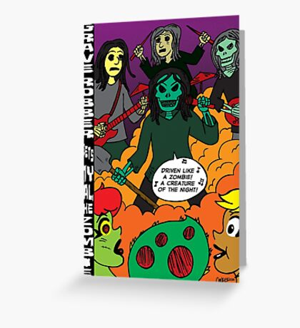 Grave Robber meets My Gal, the Zombie Greeting Card