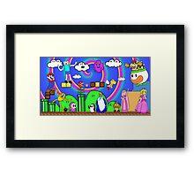 Super Mario Adventure Time  Framed Print