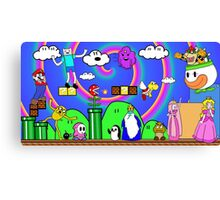 Super Mario Adventure Time  Canvas Print
