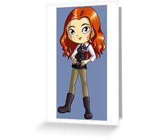 Amy Pond Chibi Greeting Card