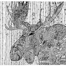 Moose-alicious Zentangle Doodle by DILLIGAF