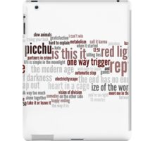 stroked songs cloud iPad Case/Skin