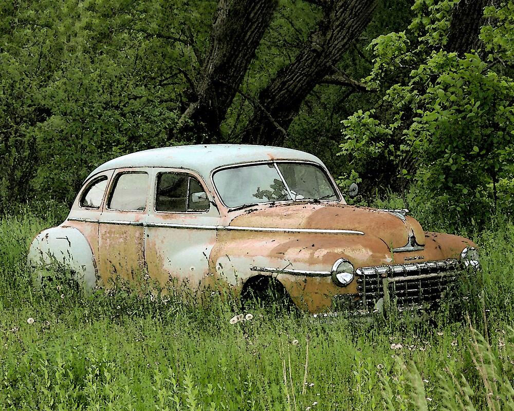 old rusty car by JohnKeeley