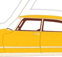 Yellow Ride of the Retro Future Sticker