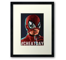 Spiderman - #CHEATDAY Framed Print