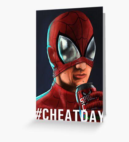 Spiderman - #CHEATDAY Greeting Card