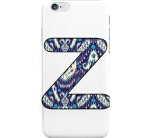Letter Series - z (ikat) iPhone Case/Skin
