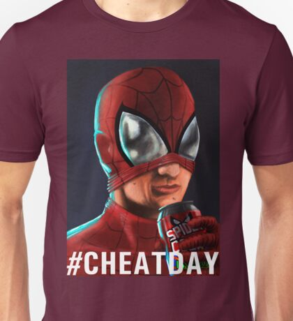 Spiderman - #CHEATDAY Unisex T-Shirt