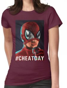 Spiderman - #CHEATDAY Womens Fitted T-Shirt