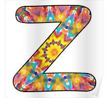 Letter Series - z (kaleidoscope) Poster