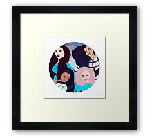 super friends Framed Print