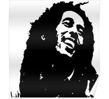 Bob Marley inspired design reggae Poster