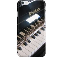 Flute on Piano Keyboard iPhone Case/Skin