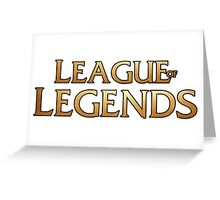 League of legends inspired design Greeting Card