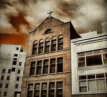 City Cross Touches The Ominous Sky by gothicolors