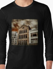 City Cross Touches The Ominous Sky Long Sleeve T-Shirt
