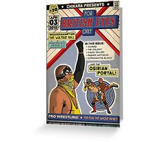 "CHIKARA ""For British Eyes Only"" Poster Design Greeting Card"