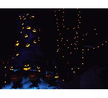 Haunted Holiday Mansion Photographic Print