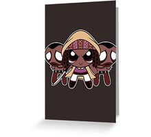 Powerpuff Michonne Greeting Card