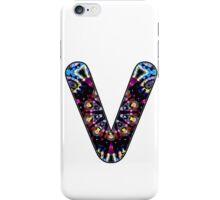 Letter Series - v (kaleidoscope) iPhone Case/Skin