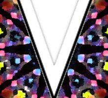 Letter Series - v (kaleidoscope) Sticker