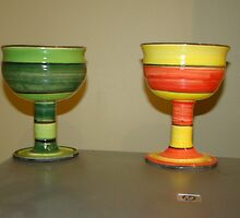 Trendy wine Goblets by Noel McCusker