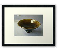 glazed shell base bowl Framed Print