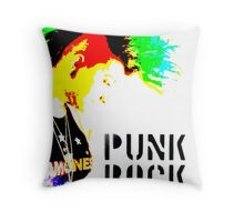 Punk Rock Mohawk Throw Pillow