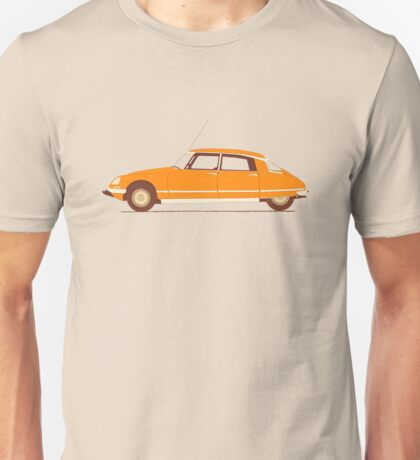 Orange Ride of the Retro Future Unisex T-Shirt