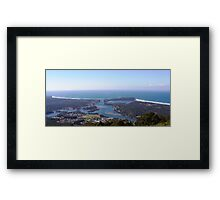 View of Camden Haven Inlet from North Brother Framed Print