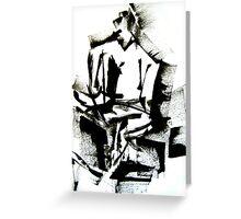 Braque Guitar Man Greeting Card