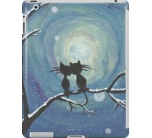 Cats in love in the moonlight iPad Case/Skin