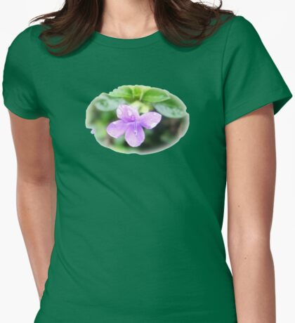 Violet Softness Womens Fitted T-Shirt
