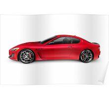 2015 Maserati GranTurismo MC Centennial Edition luxury car side view art photo print Poster