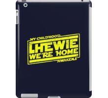 Chewie We're Home (My Childhood Awakens) - Dist yellow iPad Case/Skin