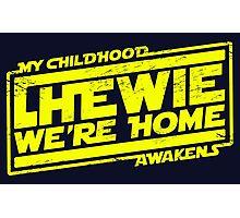 Chewie We're Home (My Childhood Awakens) - Dist yellow Photographic Print