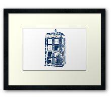 Splatter the TARDIS Framed Print