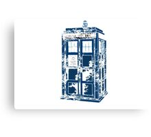 Splatter the TARDIS Canvas Print