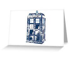 Splatter the TARDIS Greeting Card