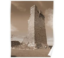 County Clare castle ruins Poster