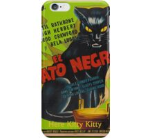 Black Cat Retro Vintage Movie  iPhone Case/Skin