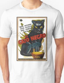 Black Cat Retro Vintage Movie  Unisex T-Shirt