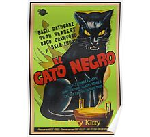 Black Cat Retro Vintage Movie  Poster