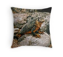 Land Iguana - Galapagos Islands Throw Pillow