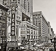 Old Theatre Sign in Chicago by Kadwell