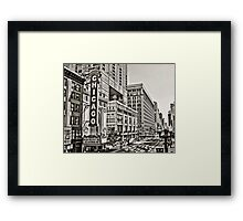 Old Theatre Sign in Chicago Framed Print