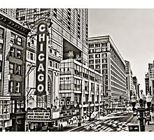 Old Theatre Sign in Chicago Photographic Print