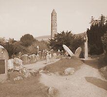 Glendalough cemetery by John Quinn